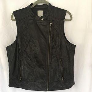 Halogen leather Vest